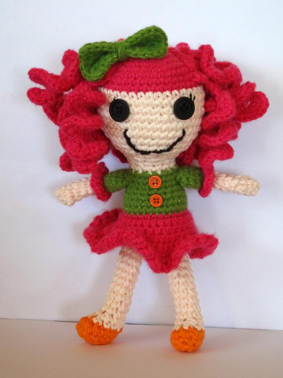 Lalaloopsy Amigurumi Tutorial : Free Lalaloopsy Inspired Crochet Doll Pattern