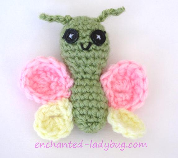Free Crochet Butterfly Toy Pattern