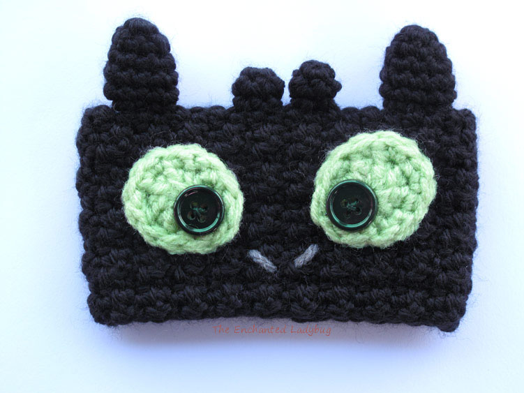 Free Crochet Toothless the Dragon Coffee Cup Cozy Pattern