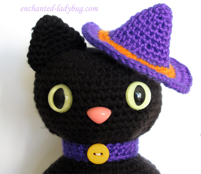 Free Crochet Amigurumi Halloween Black Cat Pattern