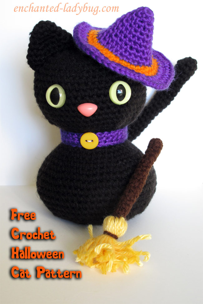 Amigurumi Black Cat Pattern : Free Crochet Amigurumi Halloween Black Cat Pattern
