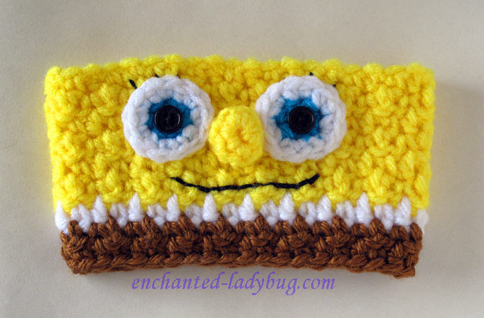 Free Crochet Spongebob Coffee Cup Cozy