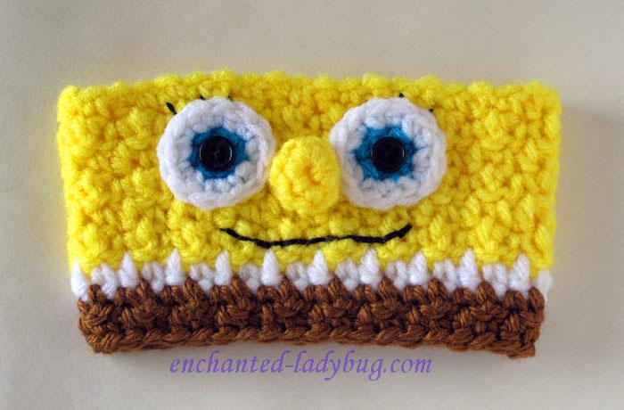 Free Crochet Spongebob Coffee Cup Cozy