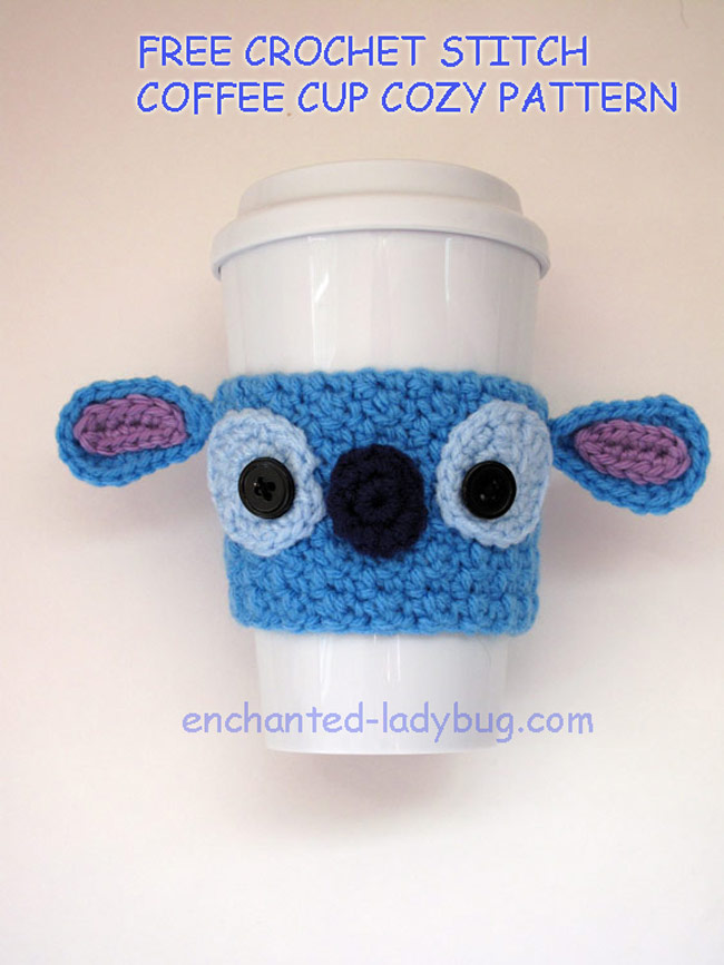 Free Crochet Stitch Coffee Cup Cozy Pattern