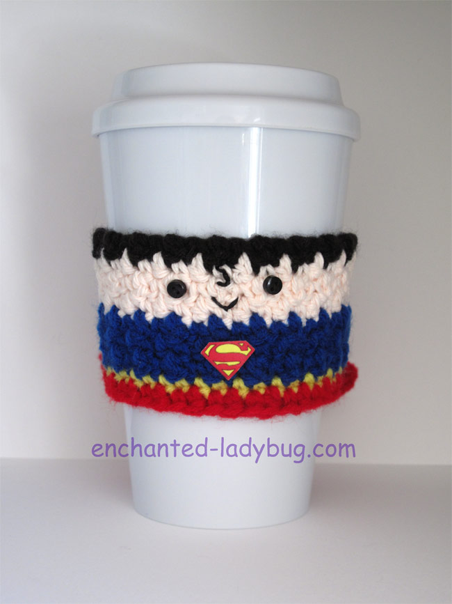 ... Free Crochet Superman Coffee Cup Cozy Pattern ...