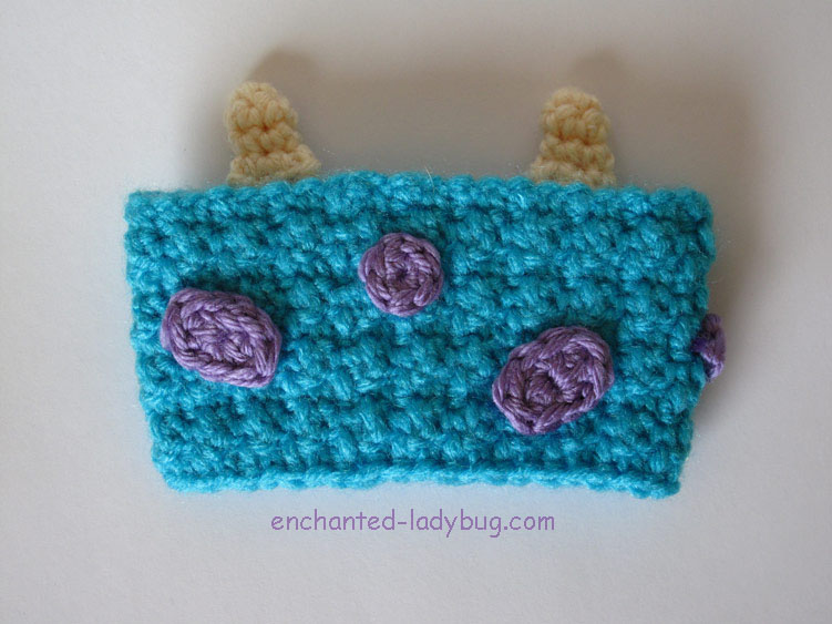 Free Crochet Monsters Inc. Sully Coffee Cup Cozy Pattern