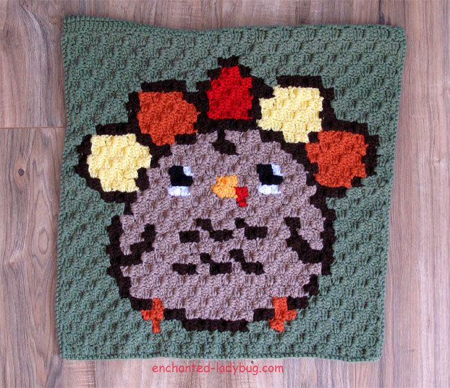 Free Crochet Corner to Corner Thanksgiving Turkey Graph