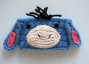 Free Crochet Eeyore Coffee Cup Cozy Pattern
