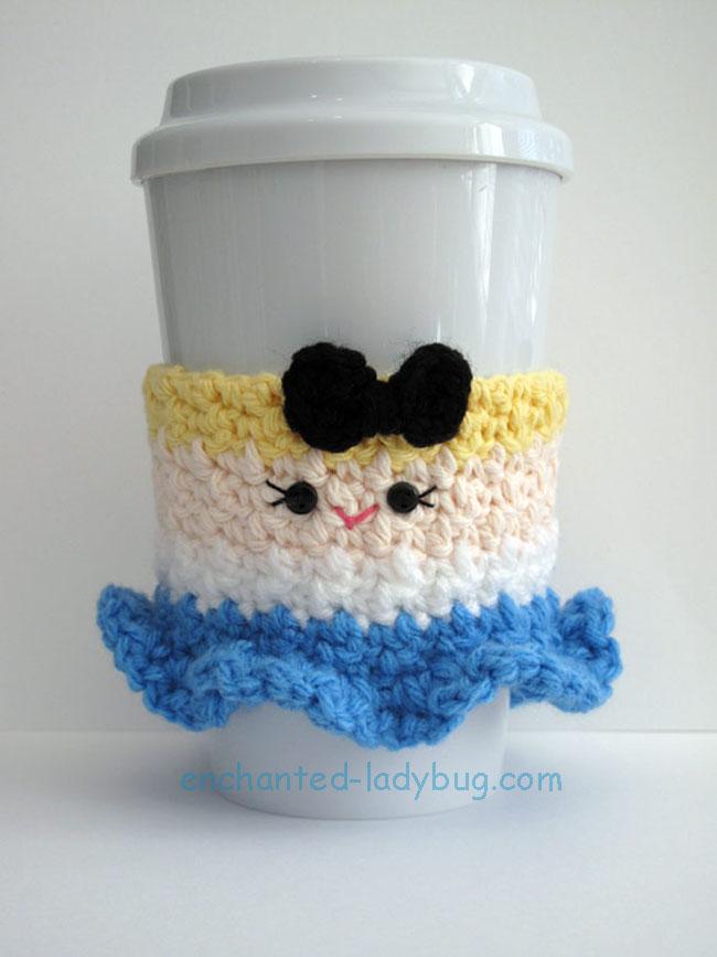 Free Crochet Alice Coffee Cup Cozy Pattern