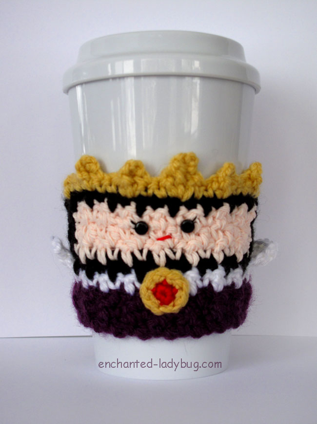 Free Crochet Evil Queen Coffee Cup Cozy Pattern