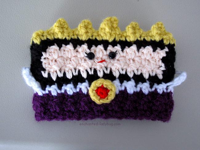 Free Crochet Evil Queen Coffee Cup Cozy Pattern