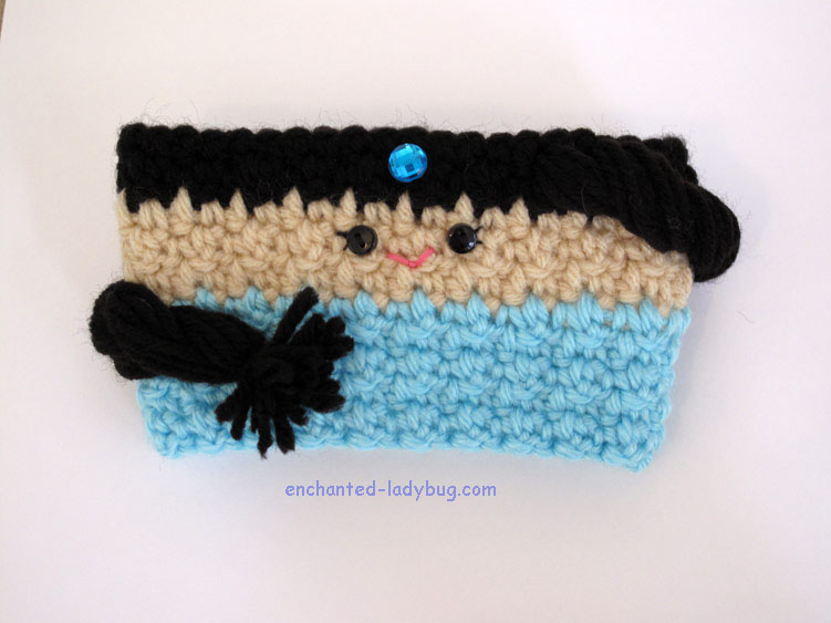 Free Crochet Princess Jasmine Coffee Cup Cozy Pattern
