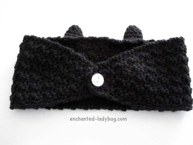 Free Crochet Toothless Dragon Ear Warmer Headband Pattern