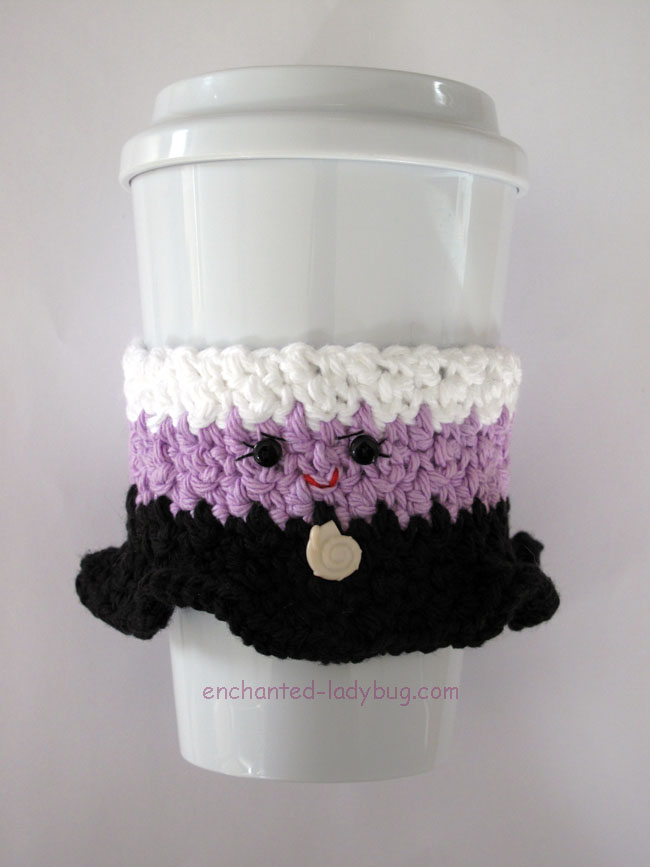 Free Crochet Ursula Coffee Cup Cozy Pattern