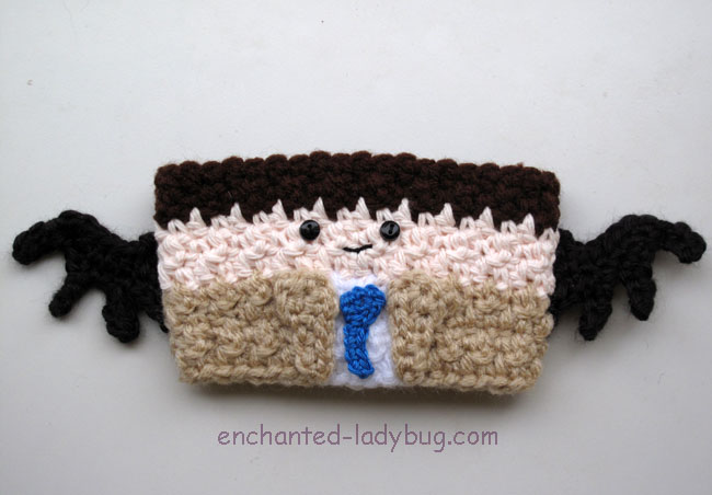 Free Crochet Supernatural Castiel Coffee Cup Cozy Pattern