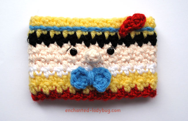 Free Crochet Pinocchio Coffee Cup Cozy Pattern