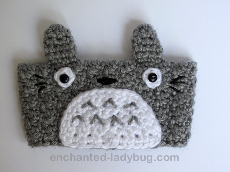 Free Crochet Totoro Coffee Cup Cozy Pattern