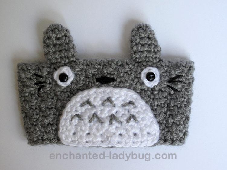 Free Crochet Totoro Coffee Cup Cozy Pattern
