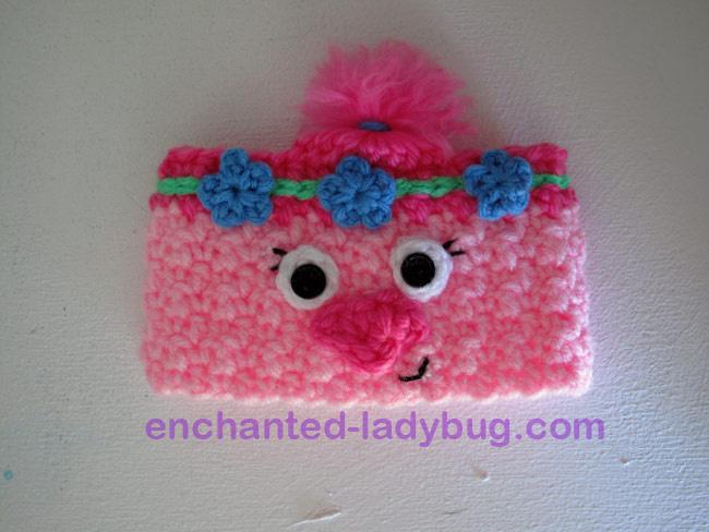 Free Crochet Poppy The Troll Coffee Cup Cozy Pattern Delectable Trolls Crochet Pattern