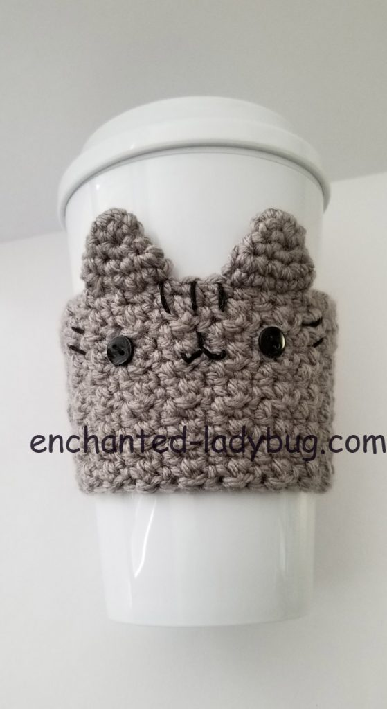 Free Crochet Pusheen Coffee Cup Cozy Pattern