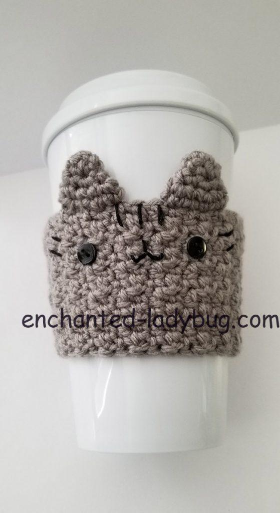 Free Crochet Pusheen Coffee Cup Cozy Pattern