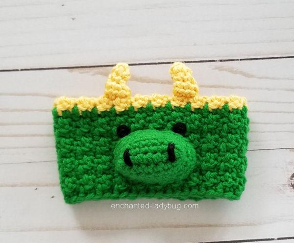 FREE PATTERN Crochet Alligator Loki Coffee Cup Cozy