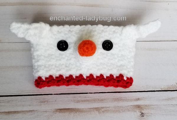 Free Crochet Nightmare Before Christmas Zero Coffee Cup Cozy Pattern